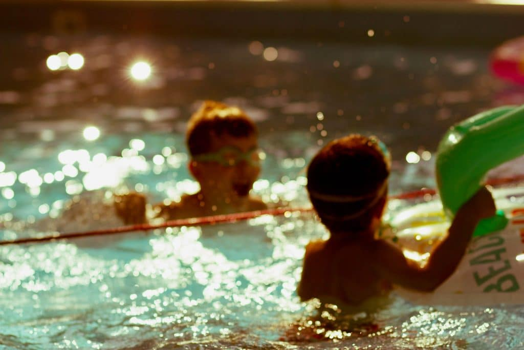 Children swimming, one of the sunnah academy of sports classes